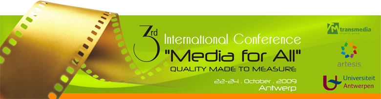"3rd International Conference ""Media for All"""